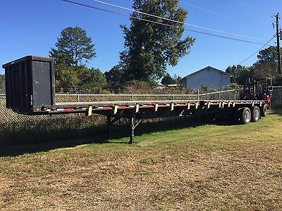 45 FT Dorsey flatbed trailer with piggyback Moffett Forklift