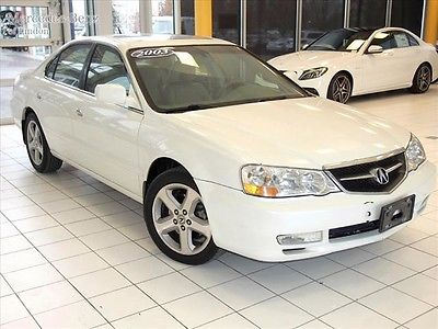 Acura : TL Type S w/Navigation System 2003 acura tl s 3.2 v 6 loaded clean car fax white diamond tan leather