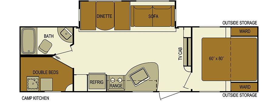 2016 Skyline Layton Javelin 285BH Bunk House, Pwr Jac
