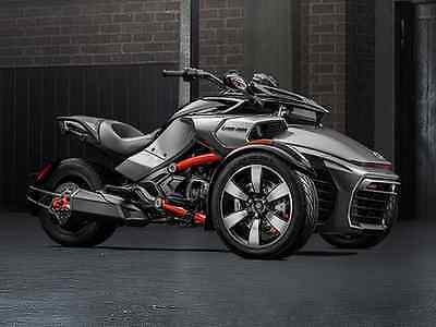 Can-Am : Spyder NEW 2015 CAN AM SPYDER F3-S SE6 MAGNESIUM and BLACK 3 YEAR WARRANTY NO FEES