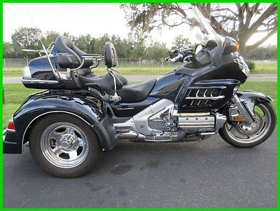 Honda : Gold Wing 2009 honda gold wing 1800 roadsmith trike driver backrest reverse clean
