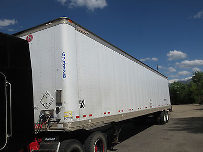 2007 GREAT DANE 53 f Air Ride DRY VAN with Maxon Lift 4400 pounds ROLL UP DOORS