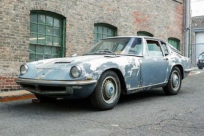 Maserati : Other 1965 maserati mistral 3.7 l ca blue plate find matching numbers for restoration