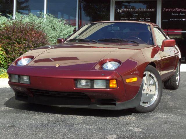 Porsche : 928 S 1985 porsche 928 coupe auto 53650 miles garnet red metallic
