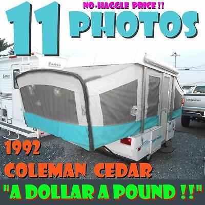 NO HAGGLE PRICE 92 Coleman Destiny Cedar 995 lbs solid camper great price LOOK!