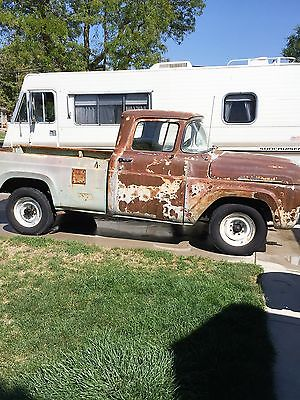 Ford : Other Pickups f25 1958 ford truck rat rod 3 4 ton long bed v 8 390 4 speed manual trans a blast to