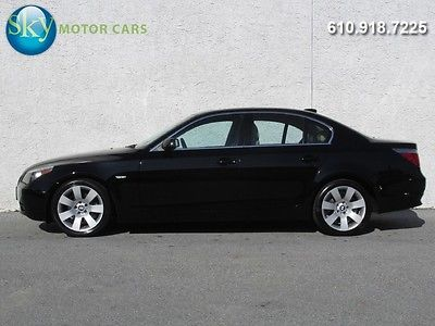 BMW : 5-Series 525i Premium Pkg Moonroof Folding Rear Seats 18's 1-Owner Dealer Service History