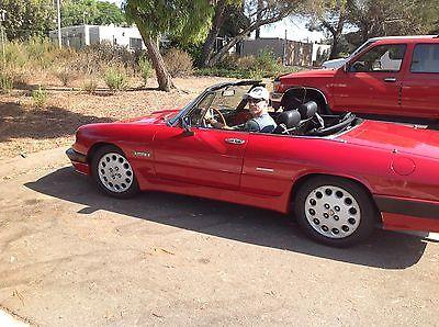 Alfa Romeo : Spider Quadrifoglio Veloce Alfa Romeo Spider 1988 less than 40K miles