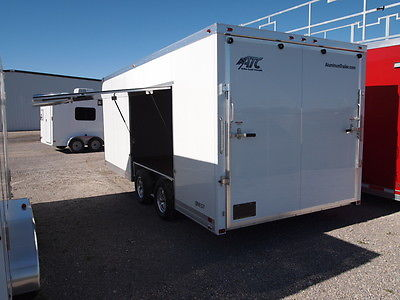 8.5X20 ATC ENCLOSED CAR HAULER TRAILER - PREMIUM ESCAPE DOOR