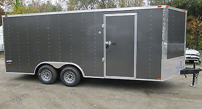 New 2016 Five Star Series Enclosed Cargo, Car Trailer,8.5 x 16 Charcoal
