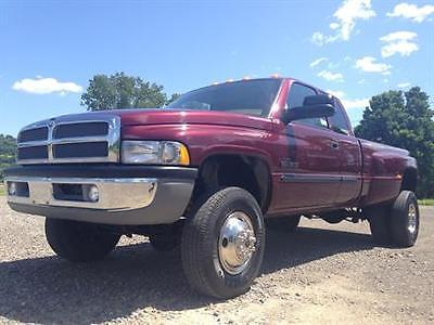 Dodge : Ram 3500 LARAMIE SLT 2002 4 x 4 big quad cab long bed dually cummins 24 valve diesel new tires perfect