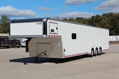 8.5 x 44 Gooseneck Enclosed Car Cargo Trailer Screwless Exterior Cabinets