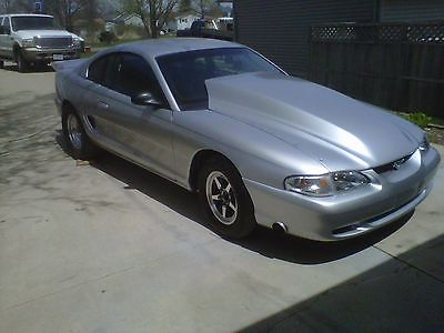Ford : Mustang SILVER 1997 silver mustang coupe 545 stroker street legal nhra certified 8.50 cage