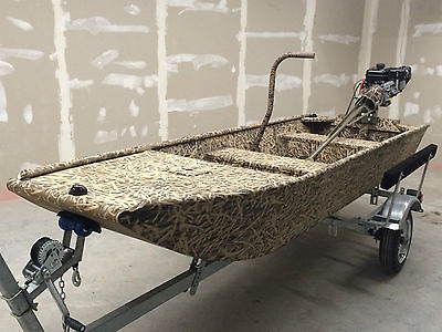 Low Country Backwater Series 1236 camo custom flat bottom jon boat