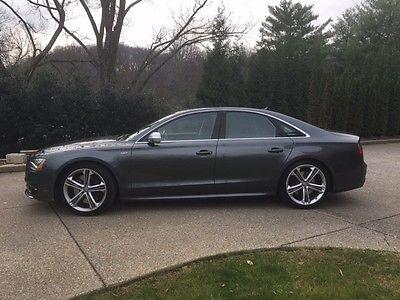 Audi : S8 V8T 2013 awd dark gray twin turbo rear ent bang olefsun loaded
