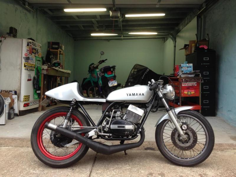 1975 Yamaha RD350 Two Stroke Cafe Racer