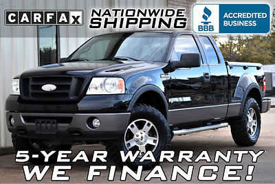 Ford : F-150 FX4 4x4 Flareside LOADED LIFTED FLARESIDE FX4 4X4 BLACK LEATHER SUPERCAB TONNEAU COVER TRUCK SUV