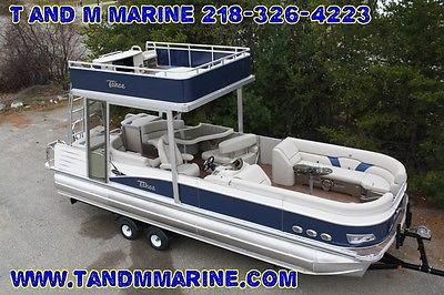 2015 -New triple tube  27 ft pontoon boat with slide- hpp tubes