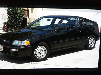 Honda : CRX classic CRX 91' black in excellent condition only 48k miles