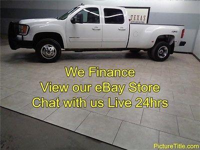 GMC : Sierra 3500 3500 Dually Duramax Diesel 4x4 SLT 11 sierra 3500 crew drw slt 4 x 4 leather seats 6.6 duramax diesel finance texas