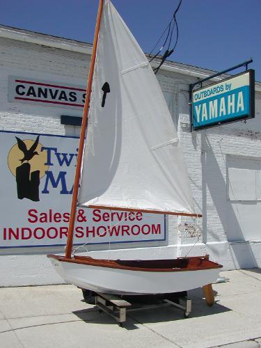 1975 SAILBOAT Custom Wood Sail Dinghy