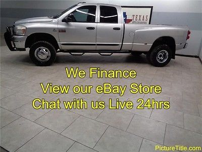 Dodge : Ram 3500 SLT 4WD Dually 6 Speed 5.9 Cummins Diesel 07 dodge 3500 slt 4 x 4 6 spd dually cummins 5.9 diesel we finance 1 texas owner