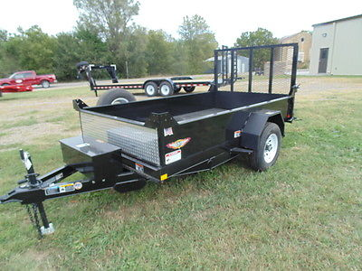 New 2016 H&H 5.5' x 10' Hydraulic Utility Dump Trailer w/Ramp
