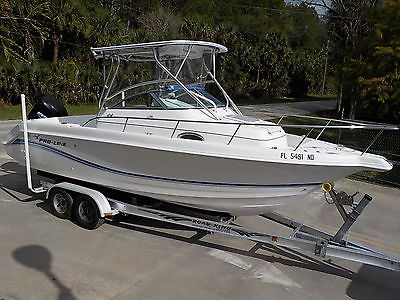 LOADED 2005 PROLINE 24 WALK AROUND FISHING BOAT 225 HP MERCURY OPTIMAX SPORT W/A