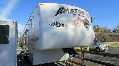 2006 Keystone Raptor 3310 Fifth Wheel Toyhauler,Slide, Generator,Sleeps 8, Video