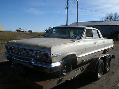 Chevrolet : Impala 1963 chevy impala 2 dr hardtop ac