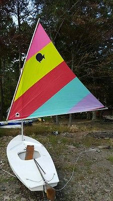 Sunfish Sailboat-Very Good Condition with Colorful Sail