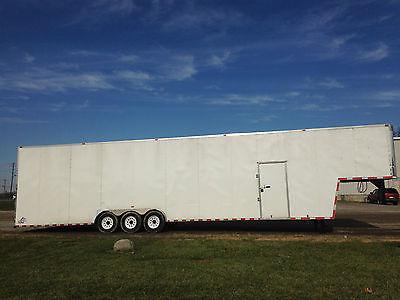 2014-44' L x 9' H x 8' W Gooseneck Enclosed Cargo Trailer-7,000 Lb. Tri Axle