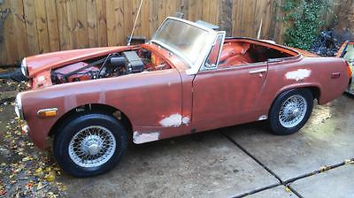 MG : Midget MIDGET MG MIDGET ROLLING SHELL WITH TITLE LAST ON ROAD 1981 TEXAS CAR