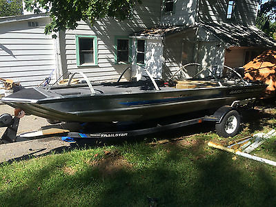 1991 Bass Tracker TX17 reservoir rig - 9.9hp customized - project bass boat