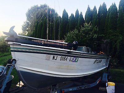 17' Sylvan Deep Vee Fishing Boat (includes trailer and fishing accessories)