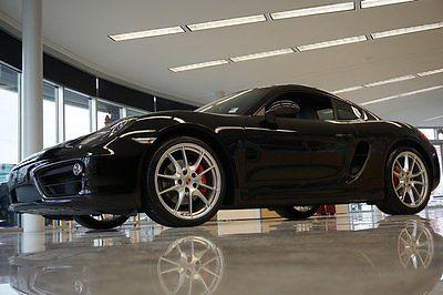 Porsche : Cayman S 2014 coupepremium unleaded automatic rwd leather black cayman s