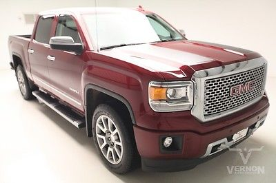 GMC : Sierra 1500 Denali Crew Cab 4x4 2015 navigation sunroof rear dvd leather heated v 8 ecotec we finance 3 k miles