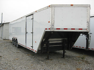 2014 38X8.5 Gooseneck, 5th Wheel, Dove Tail, Warranty Enclosed Trailer, Like New