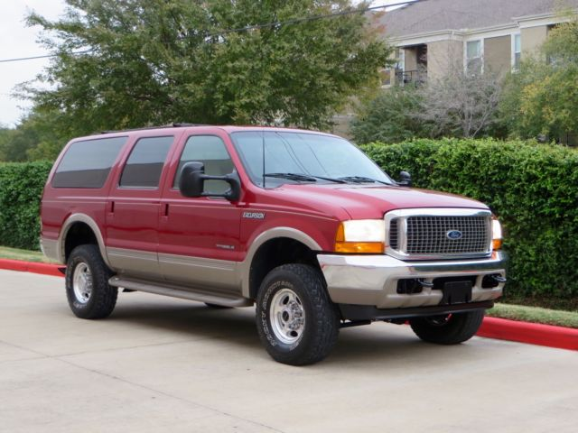 Ford : Excursion 4x4 DIESEL! 1 owner limited 7.3 l 4 x 4 3 rd row tx truck rust free low miles new tires lqqk