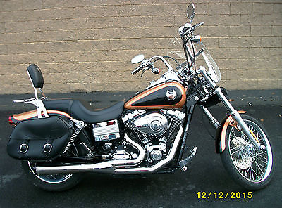 Harley-Davidson : Dyna 2008 harley davidson fxdwg anniversary edition dyna wide glide 5147 miles