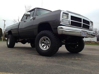 Dodge : Ram 3500 1993 dodge ram 1 ton 4 x 4 cummins turbo diesel, 1