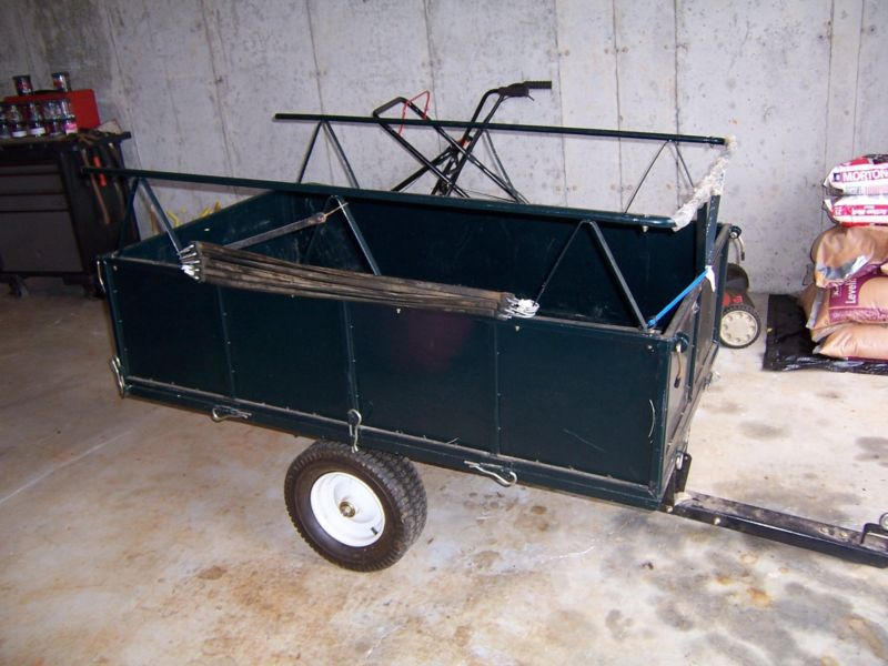 Small utility trailer.