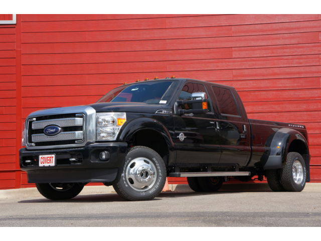 Ford : F-350 Platinum F350 Black 4X4 Dually Navigation Moonroof Heated & Cooled Seats Peacn Leather
