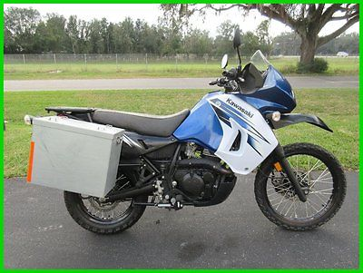 Kawasaki : KLR 2012 kawasaki klr 650 hard luggage low miles clean bike runs great
