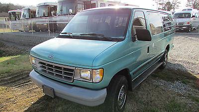 Ford : E-Series Van Club Wagon 1994 ford e 350 15 passenger van 65 k verified miles tn van like new video