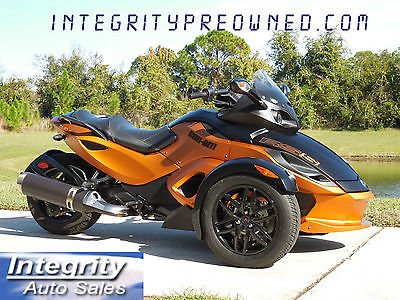 Can-Am : Spyder 2011 can am spyder rss se 5 copper black only 3 k actual miles