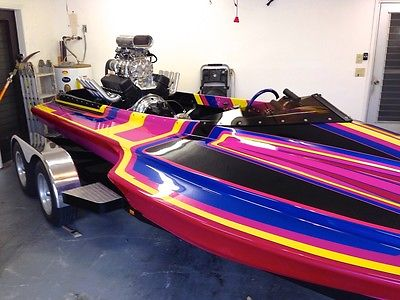 BRAND NEW 1992 Bitz Hydro Picklefork  V drive drag boat NEVER BEEN in the WATER