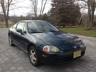 Honda : Del Sol 2 door coupe hard top convertible Green 2 door hardtop convertible