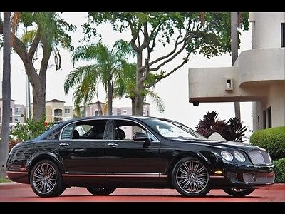 Bentley : Continental Flying Spur Speed BLACK ONLY 18K MILES 2011 SPEED CONTRASTING PIPING CONTINENTAL FLYING SPUR