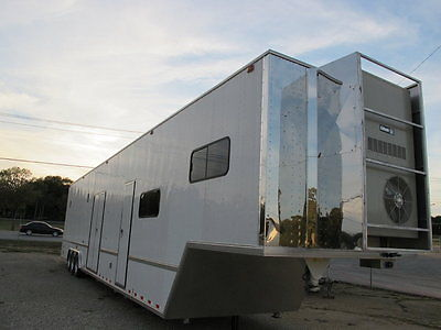2002 Phoenix Stacker trailer with living quarters, hauls 2 cars plus a golf cart